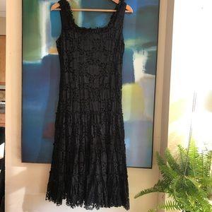 Joseph Ribkoff beautiful black lace midi dress.